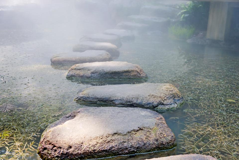 Stepping stones on a path